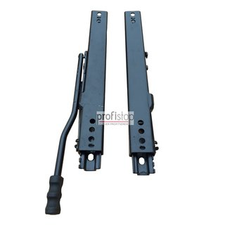 Extra robust and ball-bearing adjustment rail set